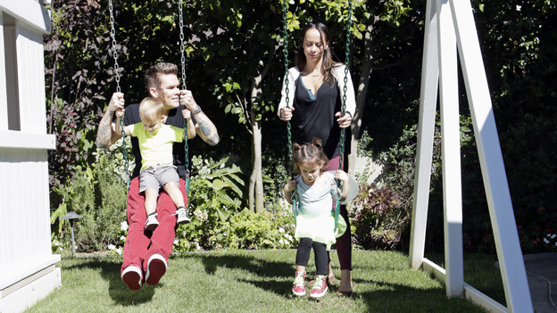 Mark McGrath Backyard Swing Set
