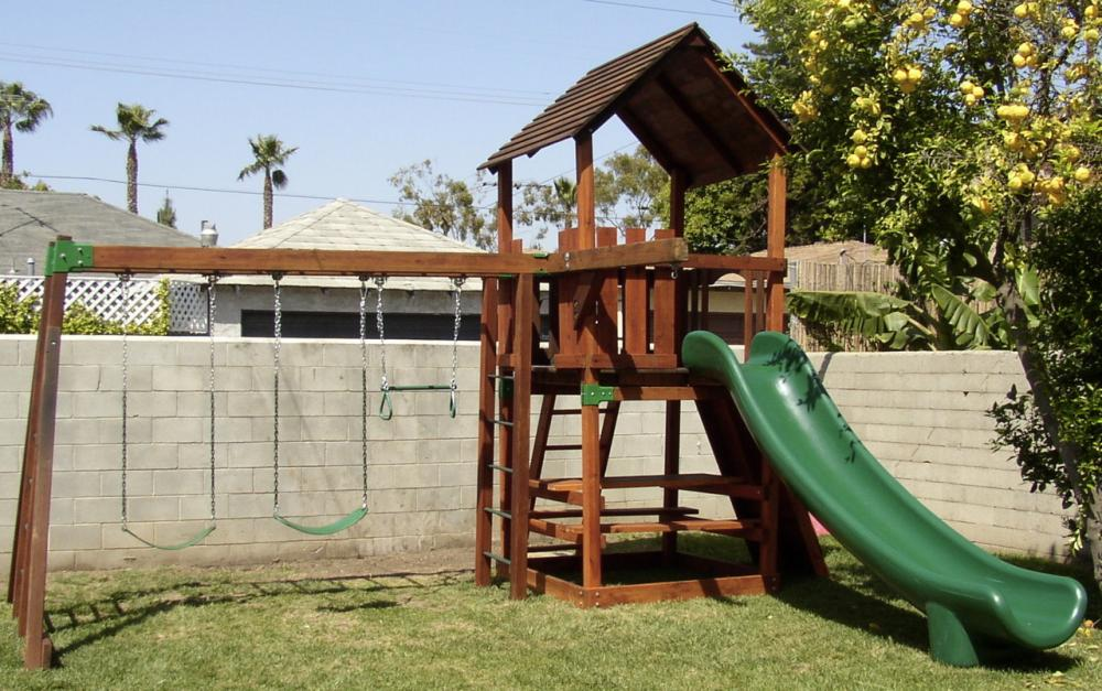 refurbished backyard adventures playset