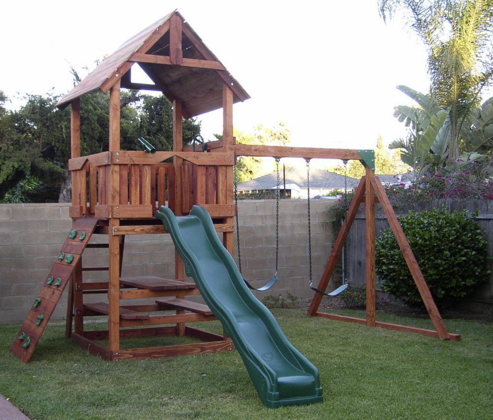 refurbished redwood play sets swingsetsolutions com