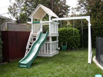 <b>P-17:</b> Fort Wave Slide 3/4 Bottom Enclosure 2 Position Swing System