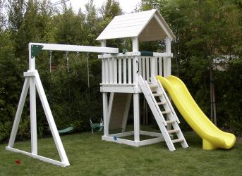 <b>P-15:</b> Fort Superslide Rock Wall 2 Position Swing System