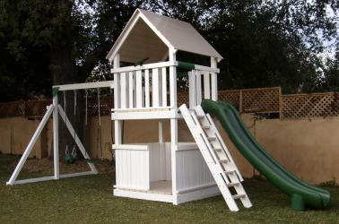 <b>P-38</b>: Fort Deck Super Slide 3/4 Bottom Enclosure 3 Position Swing System