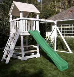 <b>P-9</b>: 2 Position Swing System Fort Wave Slide Picnic Table