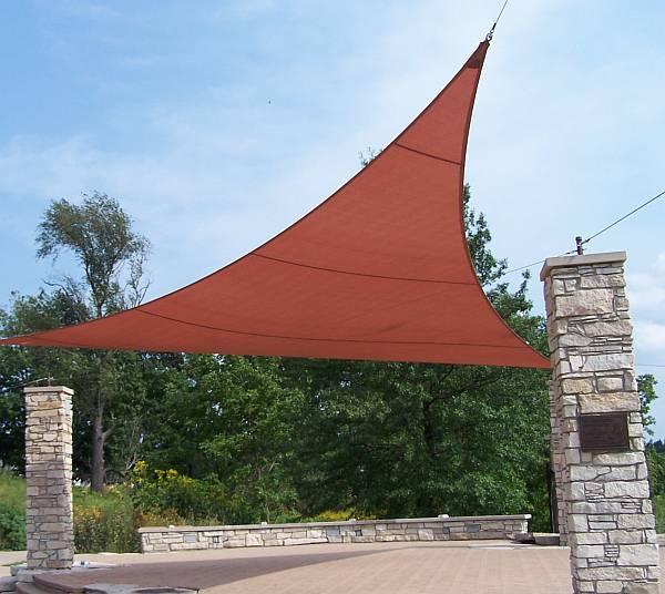 11 ft x 11 ft triangle coolaroo shade sail