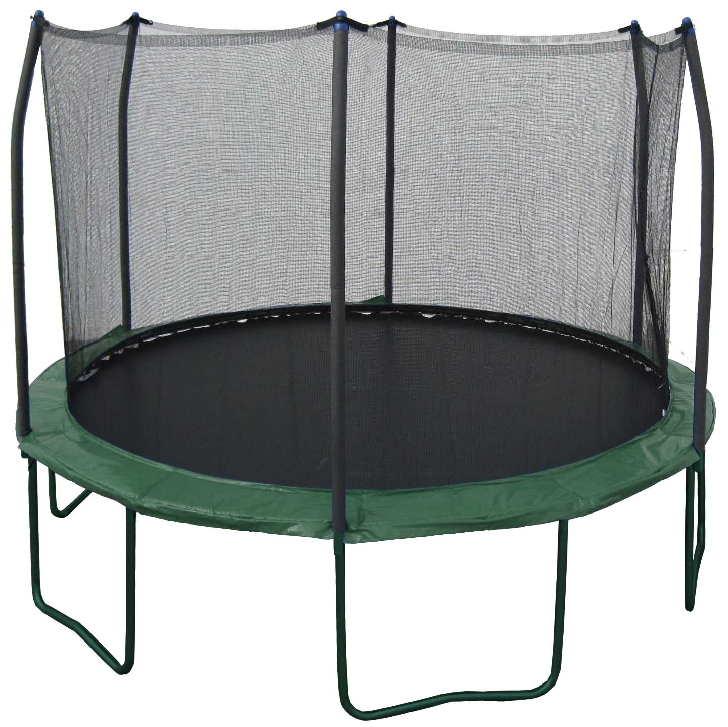 New 14 Ft. Heavy Duty Trampoline Pro w/ safety net (green)