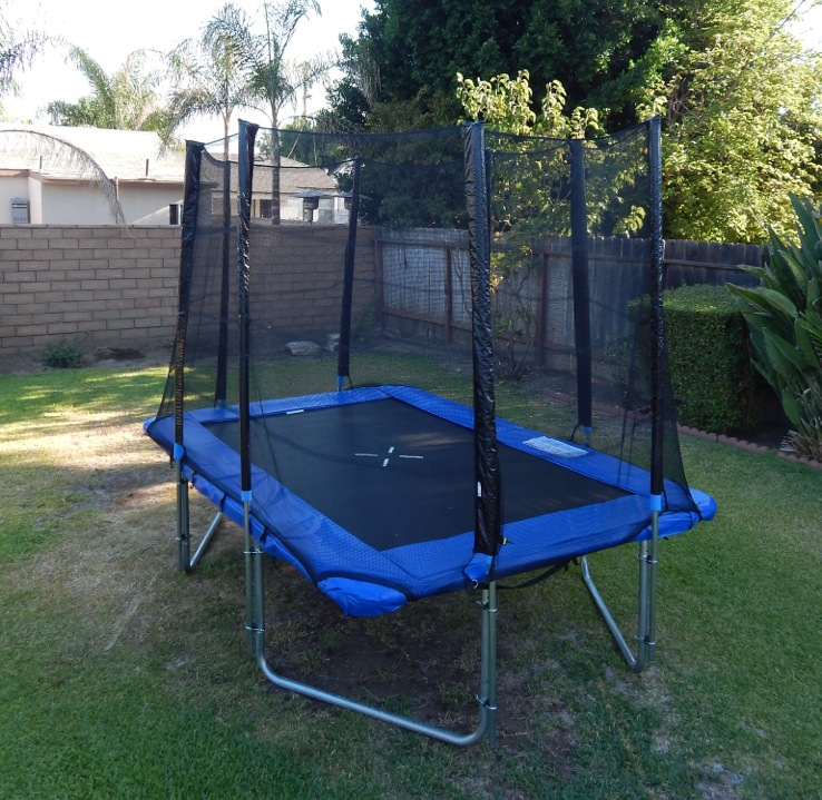 New 7' x 10' Ft Rectangular Aosom Trampoline w/ safety net