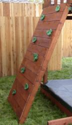 6 Ft Redwood Rock Wall
