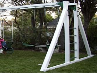 Monkey Bar System With A-Frame