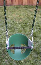 Half Bucket Swing With Chain
