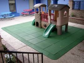 rubber tiles under play set