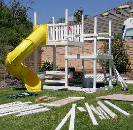 We will assemble your swing set for you